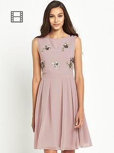 little-mistress-embellished-top-skater-dress