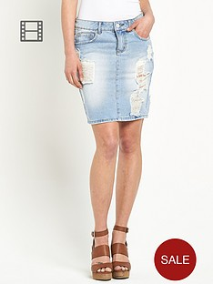 vila-vifit-rip-and-repair-denim-skirt