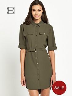 miss-selfridge-three-quarter-sleeve-shirt-dress