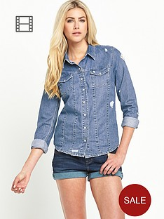 south-cara-ripped-denim-shirt