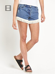 south-joni-fringe-hem-shorts