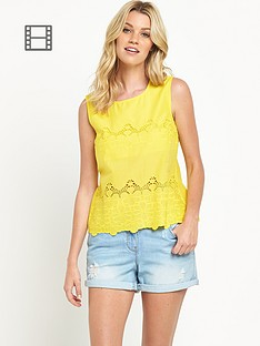 south-embroidered-hem-shell-top-yellow