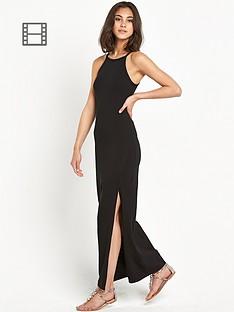 miss-selfridge-skinny-lattice-back-maxi-dress