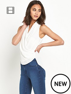 miss-selfridge-wrap-front-blouse