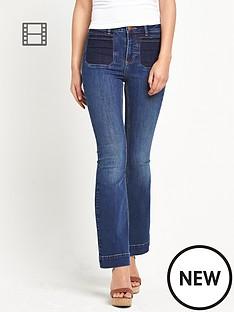 miss-selfridge-shadow-pocket-kickflare-jeans