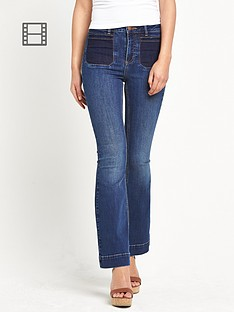 miss-selfridge-shadow-pocket-kickflare-jeans