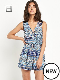 miss-selfridge-aztec-crochet-playsuit