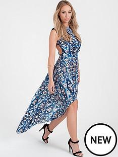 lauren-pope-geometric-dip-hem-dress