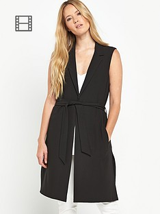 miss-selfridge-sleeveless-jacket