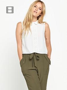 miss-selfridge-lace-insert-collar-shell-top