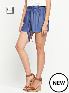 miss-selfridge-chambray-shorts