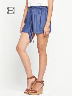 miss-selfridge-chambray-shorts