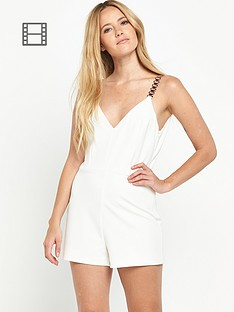 miss-selfridge-chain-strap-playsuit
