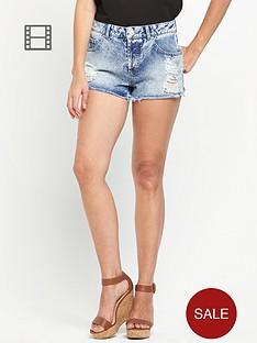 miss-selfridge-acid-distressed-hem-shorts