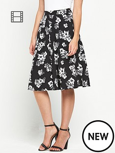 miss-selfridge-daisy-print-midi-skirt