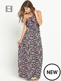 resort-frilled-floral-print-maxi-dress