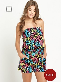 resort-animal-print-bandeau-playsuit