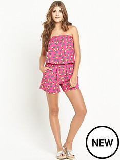 resort-resort-pineapple-print-bandeau-playsuit