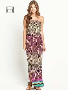 resort-animal-print-bandeau-maxi-dress