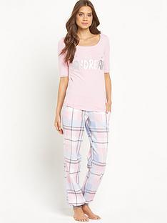 sorbet-woven-check-dont-quit-pyjamas