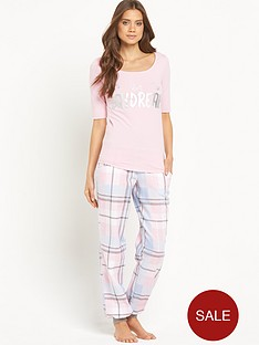 sorbet-woven-check-dont-quit-pyjamas