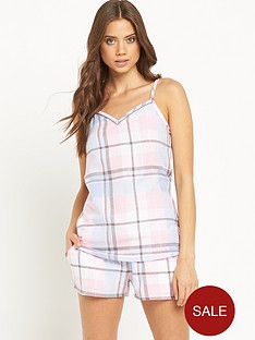 sorbet-cami-check-shorts-set