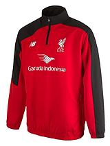 Liverpool FC Mens Half Zip Windblocker Jacket