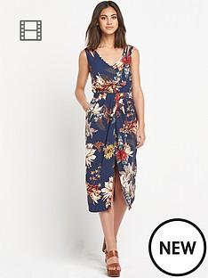 warehouse-winter-floral-midi-dress