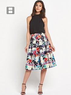 warehouse-stripe-floral-midi-dress