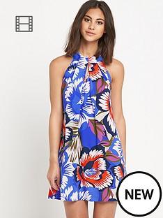 warehouse-oversized-floral-halter-dress