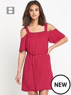 warehouse-cold-shoulder-tnic-dress