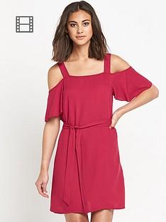 warehouse-cold-shoulder-tunic-dress