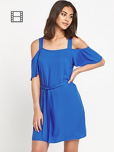 warehouse-cold-shoulder-tunic-dress