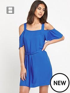 warehouse-cold-shoulder-tynic-dress