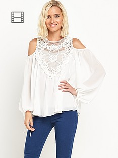 miss-selfridge-crochet-print-cold-shoulder-long-sleeved-blouse
