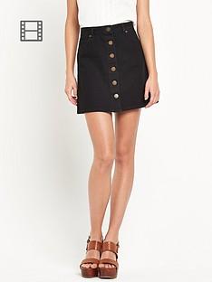 miss-selfridge-miss-selfridge-button-through-denim-skirt