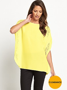south-lace-insert-bat-wing-blouse