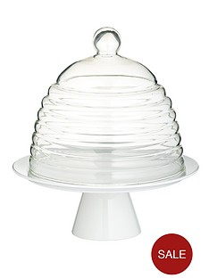 kitchen-craft-sweetly-does-it-glass-dome-cake-stand-white