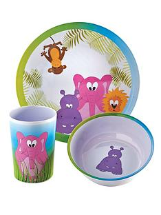 viners-jungle-3-piece-kids-melamine-set