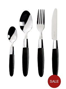 viners-fondant-black-16-piece-cutlery-set