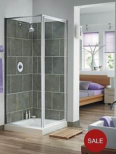 aqualux-aqua-4-pivot-door-and-side-panel-set-with-white-frame-finish-and-clear-glass