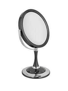 danielle-creations-175cm-swirl-edge-swarovski-pedestal-mirror-gunmetal