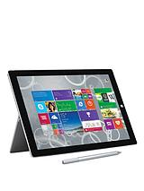 Surface Pro 3 Intel&reg Core™ i5 Processor, 4Gb RAM, 128Gb Solid State Drive, Wi-Fi, 12 inch Tablet and Optional Microsoft Office Personal and Black Type Cover - Grey