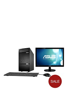 asus-k30ad-uk004s-intelreg-pentiumreg-processor-4gb-ram-500gb-hard-drive-wi-fi-185-inch-monitor-desktop-bundle-black