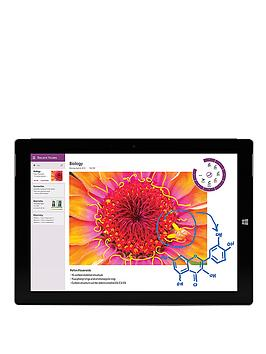 Microsoft Surface 3 Intel® Atom™ Processor, 2Gb RAM, 64Gb Storage, WiFi 10.8 inch Tablet - Tablet with Microsoft Surface 3 Type Cover - Black