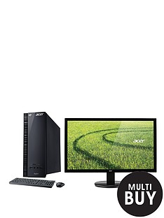 acer-aspire-xc-704-intelreg-celeronreg-processor-4gb-ram-500gb-storage-desktop-bundle-with-optional-195-or-24-inch-monitor-black