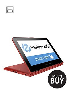 hp-pavilion-x360-11-k004na-intelreg-celeronreg-4gb-ram-500gb-storage-intelreg-hd-graphics-116-inch-touchscreen-2-in-1-laptop-with-optional-microsoft-office-personal-365-red