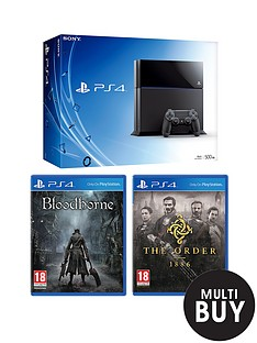 playstation-4-console-with-the-order-1886-bloodborne-and-optional-12-months-playstation-plus-or-dualshock-4-controller