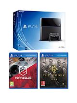 Console with The Order: 1886, Driveclub and Optional 12 Months Playstation Plus or DualShock 4 Controller