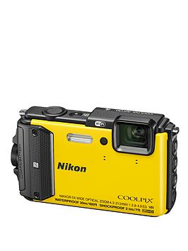 Nikon Coolpix Aw130 16 Megapixel Digital Camera  Yellow